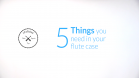 5 Things you need in your flute case