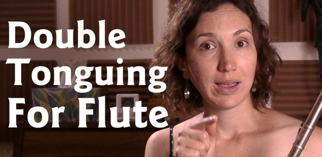 Single and Double Tonguing for Flute